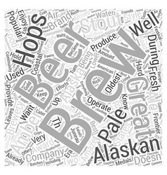 Alaskan Brewing Word Cloud Concept vector