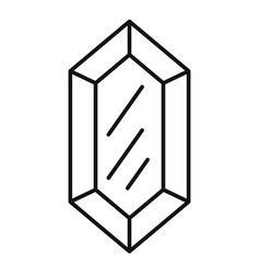 Amethyst jewel icon outline style vector