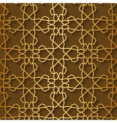 Arabic pattern gold style Traditional east vector