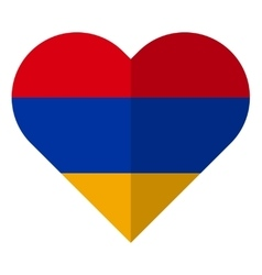 Armenia flat heart flag vector