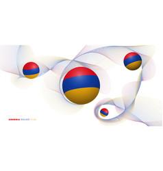 Armenia round flag vector