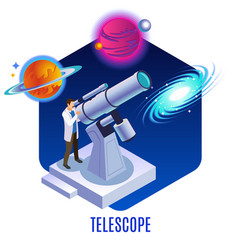 Astrophysics isometric background vector
