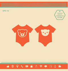 Baby rompers icon vector