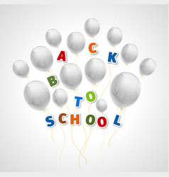 back to school with white balls vector image