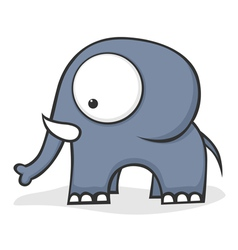 big eyed elephant vector image