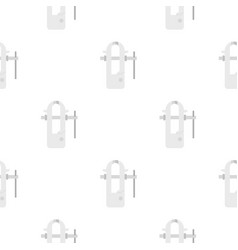 Blacksmiths vice pattern flat vector