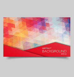 Bright color polygonal banner vector
