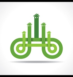 Business icon with home vector image