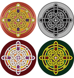 button with Celtic vector image vector image