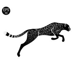 cheetah fast run logo guepard vector image