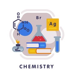 chemistry school subject icon education and vector image