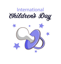 Children s day card on a vector