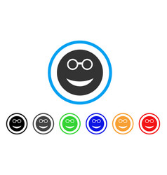 clever smiley icon vector image