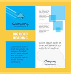 cloud circuit company brochure title page design vector image