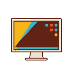 computer screen or desktop monitor vector image