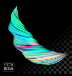digital paint color abstract 3d background vector image