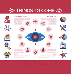 Digital quantum things to come technology vector