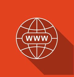 Go to web icon www icon world wide web symbol vector