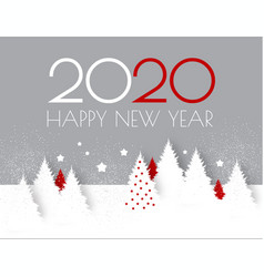 happy new 2020 year flyer design template elegant vector image