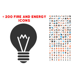 Hint bulb icon with bonus power collection vector