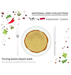 indonesian cuisine asian national dish collection vector image