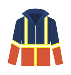 Industrial footwear jacket icon vector