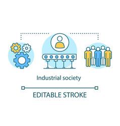Industrial society concept icon labor vector