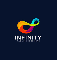 Infinity symbol icon or logo template vector
