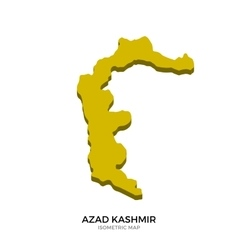 Isometric map of Azad Kashmir detailed vector