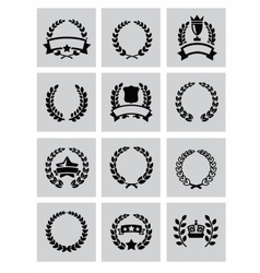 Laurel wreaths icon vector