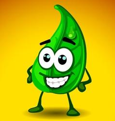 Leaf mascot vector