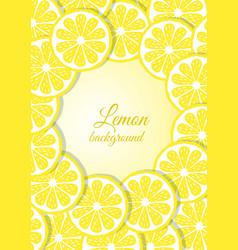 Lemon icons card vector