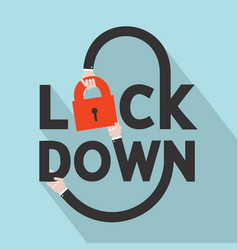 Lockdown font icon vector