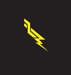 lp letter based lighning symbol scandinavian vector image