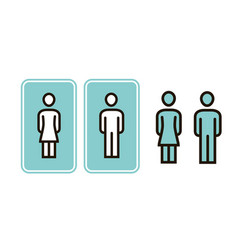 male and female wc sign icon toilet restroom vector image