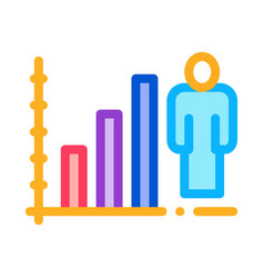 man rising rates icon outline vector image