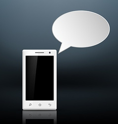 message on your smartphone vector image