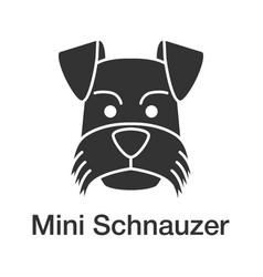 Miniature schnauzer glyph icon vector