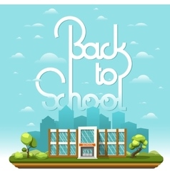 Modern School building vector image