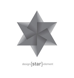 Origami Star vector image