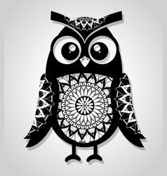 Owl mandala boho style vector