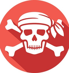 Pirate Skull Icon vector image