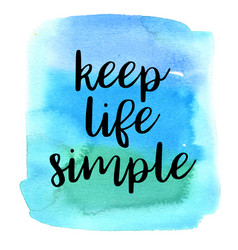 quote keep life simple vector image