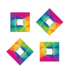 rainbow gradient squares vector image