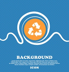 Recycle icon sign Blue and white abstract vector
