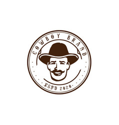retro vintage man male masculine head logo design vector image