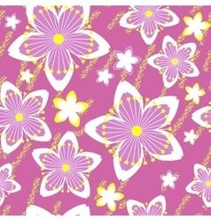 Seamless grunge flower texture 520 vector image