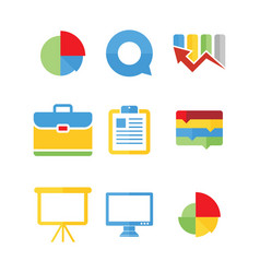 set of business presentation icons vector image