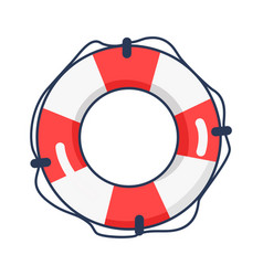 Shiny striped life buoy isolated vector