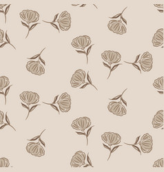 Simple brown flower pattern design vector